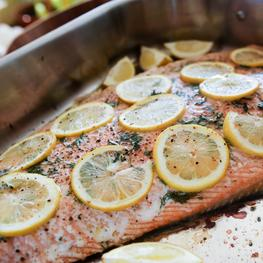 Side of Salmon with Lemon and Dill