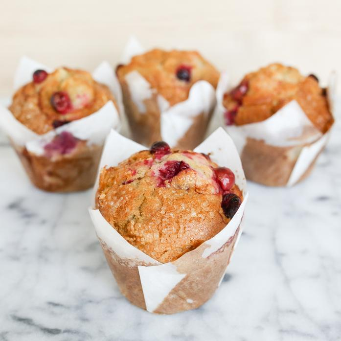Apple Cranberry Muffin