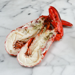 Steamed Whole Split Lobster