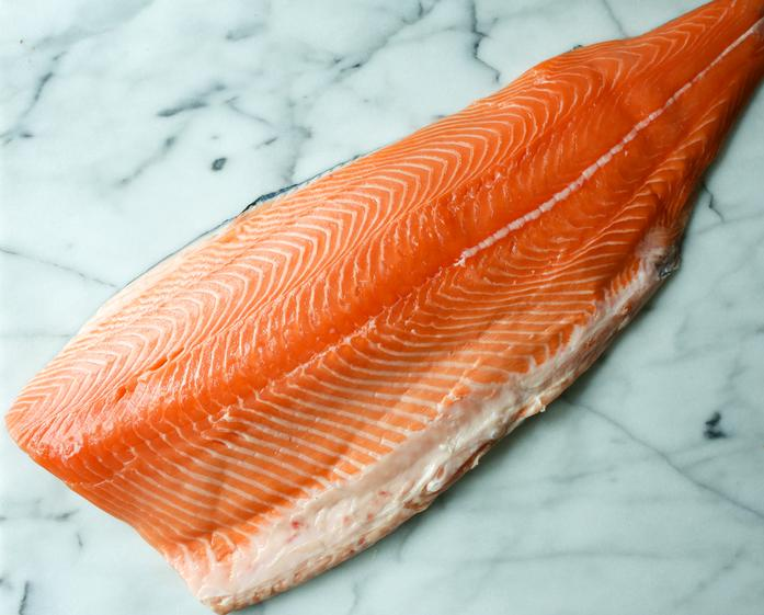 Organically Raised Scottish Salmon Side (Skin-Off)