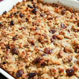 Cornbread Dressing with Chicken Sausage