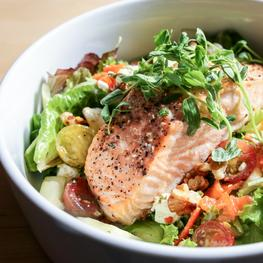 Salmon Salad with Lemon Basil Dressing