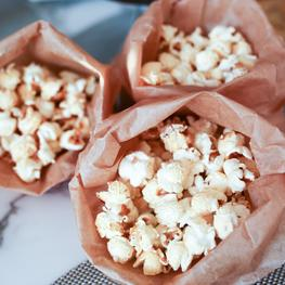 Homemade Popcorn with Stinky Salt