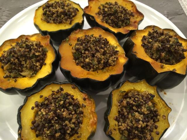 Acorn Squash with Quinoa and Lentils